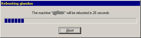 reboot pending ...